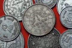 Монетки Непала Стоковая Фотография