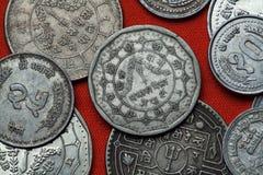 Монетки Непала Стоковое фото RF