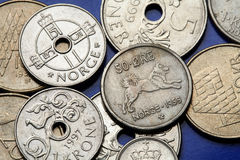Монетки Норвегии Стоковые Изображения