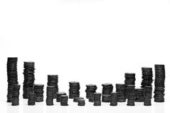 монетки омедняют Стоковое Изображение
