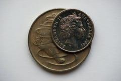 2 монетки от Австралии Стоковое фото RF