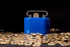 Монетки одного евро Стоковое фото RF