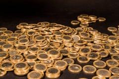 Монетки одного евро Стоковое Изображение RF