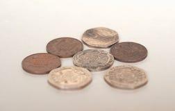 Монетки пенни, Великобритания Стоковое Изображение RF