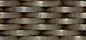 монетки предпосылки Стоковое фото RF