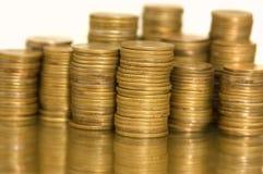 монетки предпосылки Стоковое Изображение