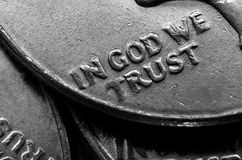 Монетки серебряных американских денег Стоковые Изображения