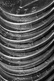 Монетки серебряных американских денег Стоковое Изображение