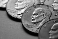 Монетки серебряных американских наличных денег денег Стоковая Фотография RF