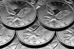 Монетки серебряных Eagles Стоковое фото RF