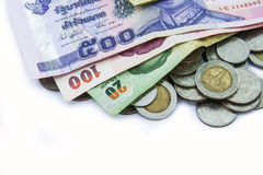 Монетки с банком Стоковые Изображения RF