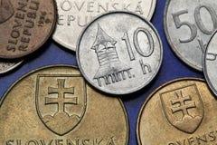 Монетки Словакии Стоковое Фото
