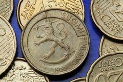 Монетки Финляндии Стоковое Изображение