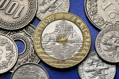 Монетки Франции Стоковые Изображения RF