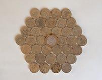 Монетки фунта, Великобритания Стоковые Фотографии RF
