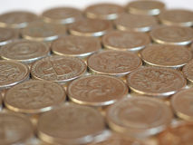 Монетки фунта, Великобритания Стоковая Фотография RF
