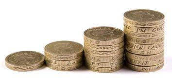 Монетки фунта Стоковая Фотография RF