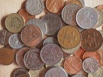 Монетки фунта Стоковое Фото