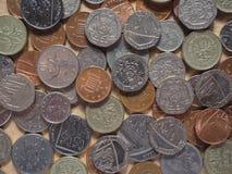 Монетки фунта Стоковое фото RF