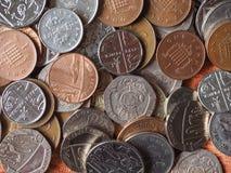 Монетки фунта Стоковые Фото