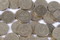 Монетки фунта Стоковая Фотография
