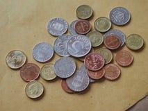 Монетки шведских кронов, Швеция Стоковые Изображения