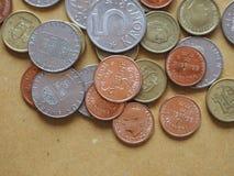 Монетки шведских кронов, Швеция Стоковая Фотография