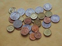 Монетки шведских кронов, Швеция Стоковое Фото