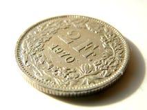 Монетки Швейцарии Стоковое фото RF