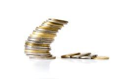 монетки штабелируют перемеююый Стоковые Фото