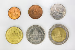 Монетки для денег в Таиланде Стоковое Фото