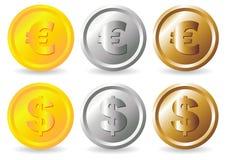 Монетки бесплатная иллюстрация