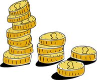 монетки иллюстрация штока