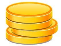 Монетки иллюстрация вектора