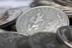 Монетки Kuna, хорватские деньги Стоковые Изображения RF