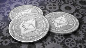 3 монетки thereum на шестерне справляются cryptocurrency предпосылки conc бесплатная иллюстрация