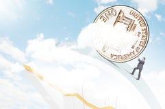 Монетная концепция Стоковое Изображение RF