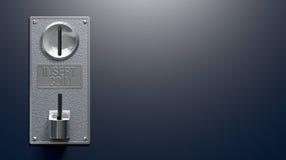 Монетная щель на голубой предпосылке Стоковая Фотография