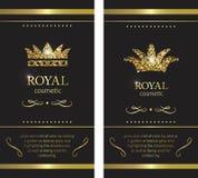 монетное золото pearls красные рубины Роскошные ярлык, эмблема или упаковка com алтернативы colldet10709 colldet10711 конструируе бесплатная иллюстрация