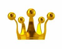 монетное золото pearls красные рубины Стоковое Изображение RF