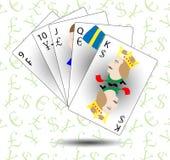 Монетный и финансовый покер прямо бесплатная иллюстрация