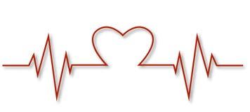 Монитор биения сердца ECG изолированный на белизне иллюстрация вектора