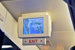 Монитор в самолете Стоковое Фото