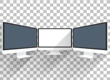монитор изолированный компьютером Стоковые Изображения RF
