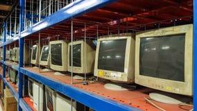 монитор дисплея компьютера предпосылки изолированный над белизной Стоковые Изображения
