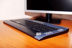 Монитор и клавиатура Lcd стоковое изображение rf