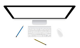 Монитор и клавиатура Стоковые Фото