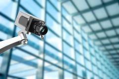 Монитор камеры слежения CCTV в офисном здании стоковое фото rf