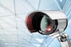 Монитор камеры слежения CCTV в офисном здании Стоковое Изображение RF