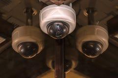 Монитор камеры слежения CCTV в офисном здании Стоковые Фото